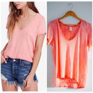 NWT free people short sleeve tee size xl in coral